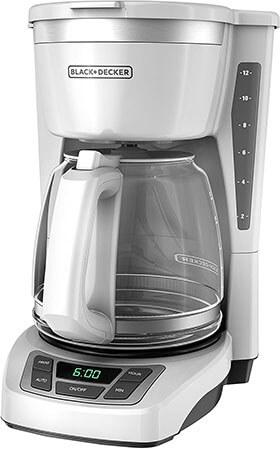 BLACK+DECKER 12-Cup Programmable Coffeemaker, CM1160W