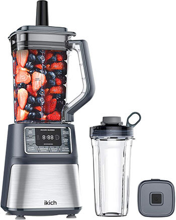 IKICH Vacuum Blender & Smoothie Cup, Professional Countertop Blender Ice Crusher