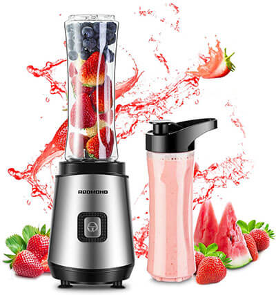 REDMOND Personal Blender 20 oz. Countertop Smoothie Blender 20000 RPM 300W