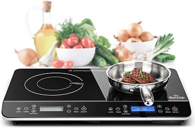 Duxtop LCD Portable 1800W Double-Induction Cooktop