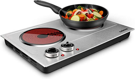 CUSIMAX 1800W Ceramic Electric Hot Plate