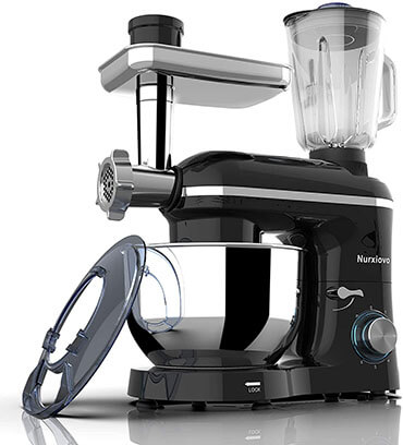 Nurxiovo 3 in 1 850W 6 Speed Tilt-Head Kitchen Mixer