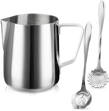Sikemay Stainless Steel Coffee Milk Frothing Cup