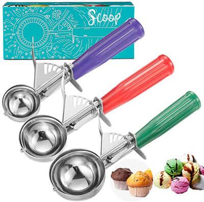CHEE MONG Cookie Scoop Set, Ice Cream Scoop Set