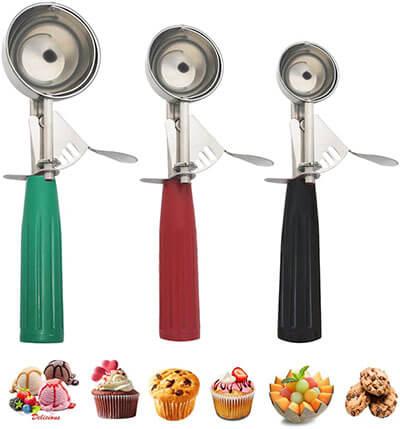 Saebye Ice Cream Scoop with Trigger, Cookies Scoop Set
