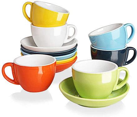 SWEEJAR Ceramic Cappuccino Cups
