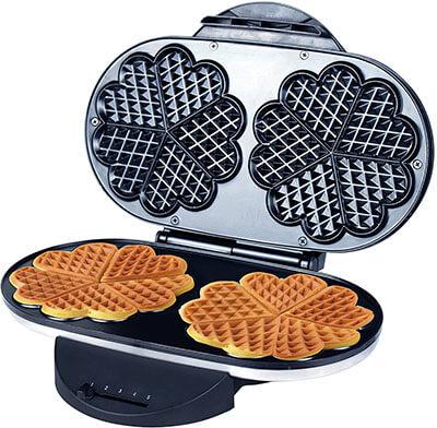 ZZ Double Heart Waffle Maker