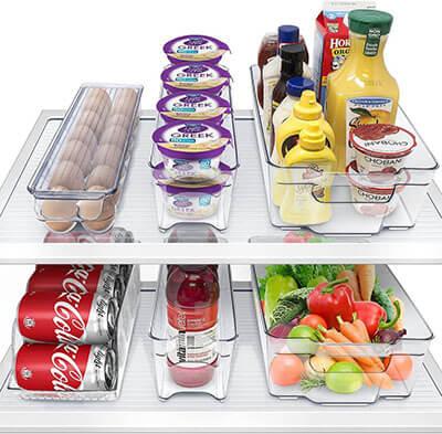 Sorbus Freezer Bins Refrigerator Organizer