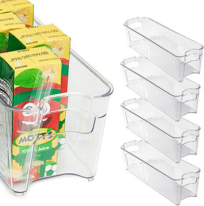 Totally Kitchen Clear Stackable Storage Bins