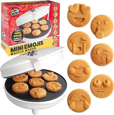 Mini Emojis Smiley Faces Waffle Maker