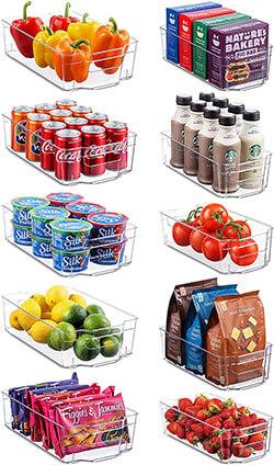 Seseno Set of 10 Refrigerator Organizer Bins